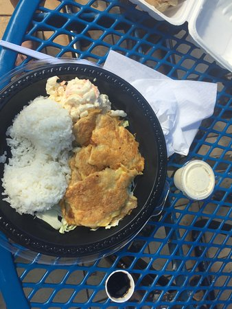 Sunset Beach, HI: Don't worry if you missed breakfast, the mahi mani plate is out of this world