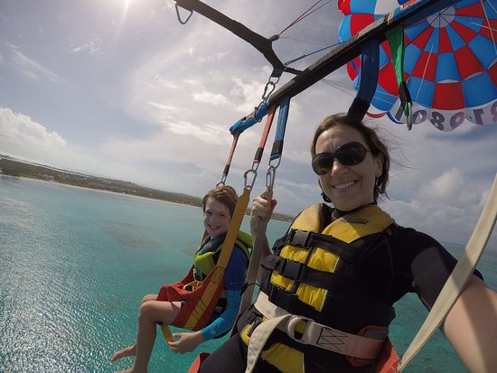 Whale's Tail Parasail: Me and my mom