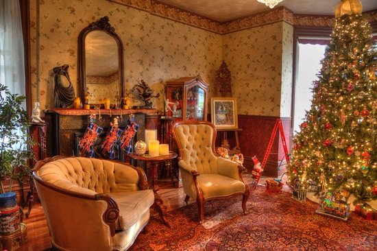 Seaforth, Canadá: The Formal Living Room at Christmas