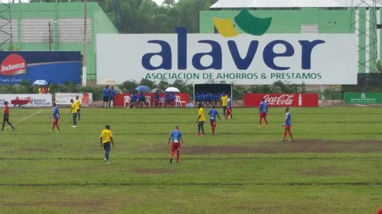La Vega, República Dominicana: Game between Atletico Vega Real and Club Barcelona Atletico