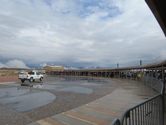 Williams, AZ: Centro de recepción de visitantes para tomar buses hacia el cañón