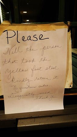 Sellersville, PA: odd note at front entry