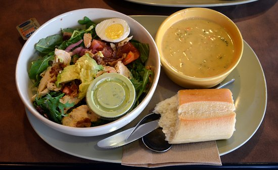 Panera Bread: Chicken salad and brocelli cheddar soup