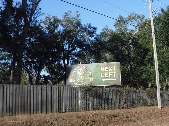 Entrance Sign Picture Of Savannah Oaks Rv Resort