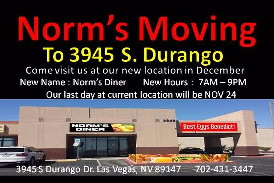 Norm's Eggs Cafe is Now Norm's Diner : New Location