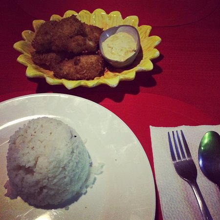 Mamburao, Filippinene: Fish fillet with mayonaise sauce... my another favs!