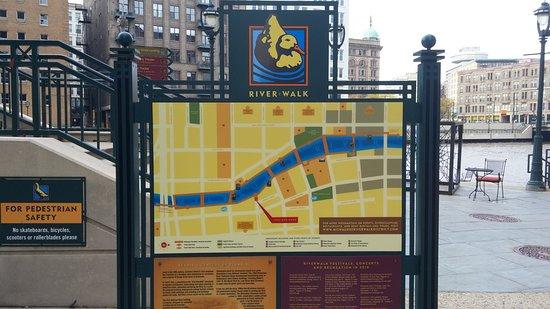 Map of the Riverwalk - Bild von Milwaukee RiverWalk, Milwaukee ... Map Of The Riverwalk on