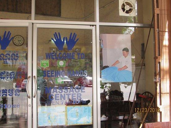 Seeing Hands Massage Center: front door