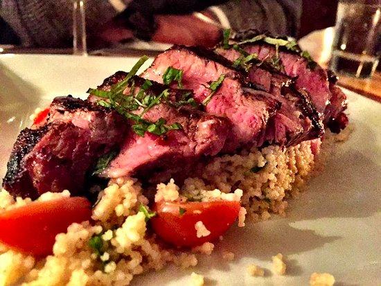 Douglas, MI : Lamb Sirloin with Mediterranean couscous