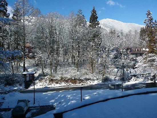 Aqua Alpine Hakuba: taken from our suite @ Aqua Alpine on Christmas Day morning 2016....