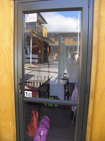 Bay Adventurer: The glass door to the room