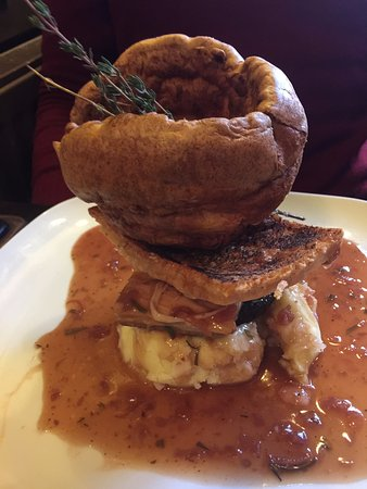 Newchurch, UK: My son had the brilliant Slow Cooked Belly Pork, but wanted a Yorkie Pud too.