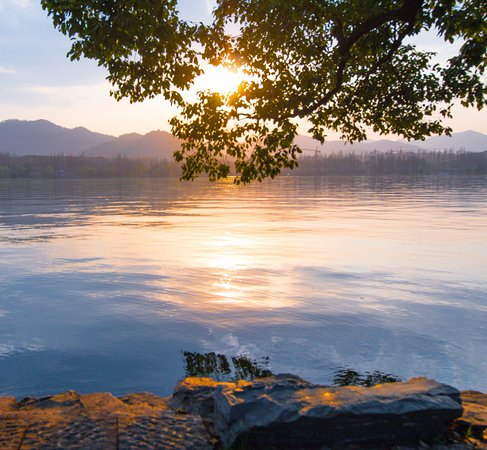 Hangzhou, China: Westlake Sunrise view