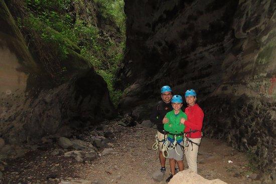 Granadilla de Abona, Hiszpania: All geared up in the canyon