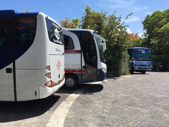 Blue Point Bay Villas & Spa: Three coach loads of photo-gatherers arriving at a time