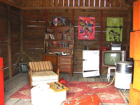 Tukums, Lettonie : Комната с бытовой техникой времён Советского Союза