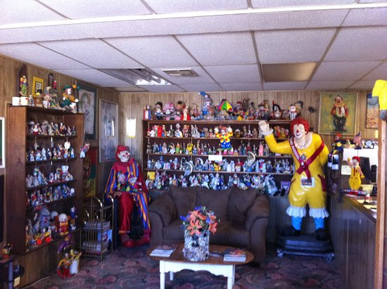 Office area of the Clown Motel in Tonopah, Nevada