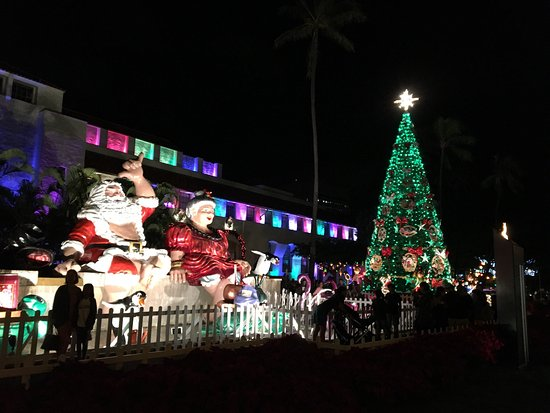 honolulu city lights we visited there after christmas day so it was not so