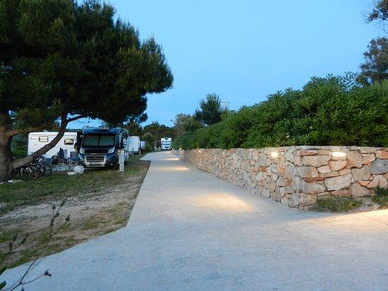 Dugi Island, Croatia: Small road between camping plots