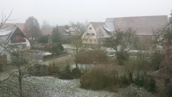 Windelsbach, Deutschland: View from my window on a very cold and frosty morning!