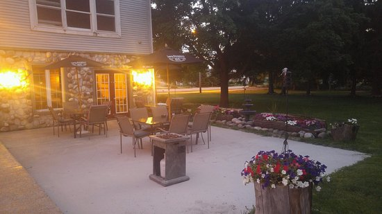 Oak Creek, WI: back patio located behind the cellar where customers can eat