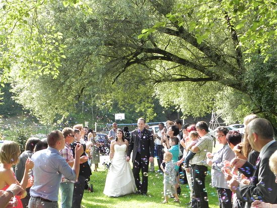 Tolmin, Eslovênia: Labrca outdoor center with restaurant - Wedding party