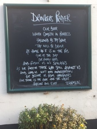 Crondall, UK: Drinkers Prayer - found this rather amusing