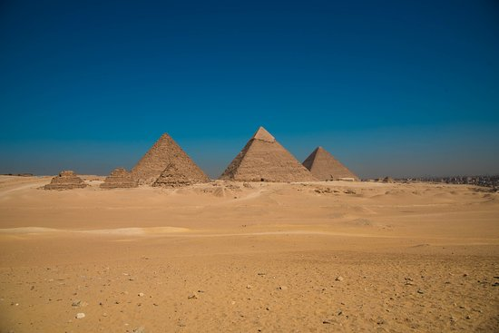 Great Pyramid from Sahara desert camel tour to the Sphinx - Picture of Day  Tour: Giza Pyramids, Sphinx, Saqqara, and Memphis - Tripadvisor