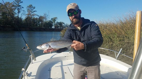 Port Royal, SC: Big trout for the cooler