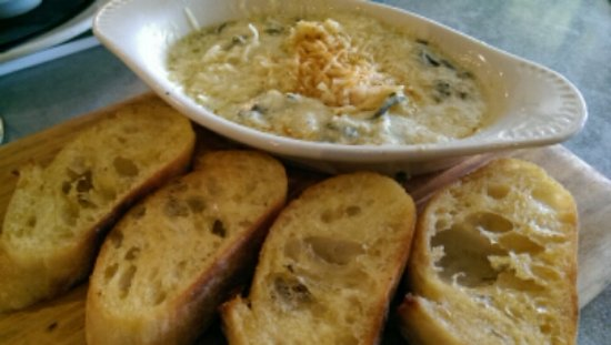Locust Grove, GA: Hot Spinach Dip $11 (lacked spinach and not warm)