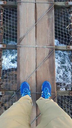 Ballintoy, UK : Rope bridge.
