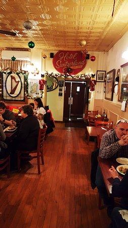 Jim Thorpe, PA: back room dining area