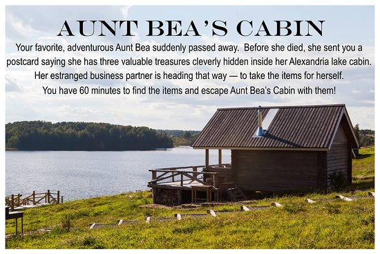 Alexandria, MN: Room 1 - Aunt Bea's Cabin and the story behind your adventure!