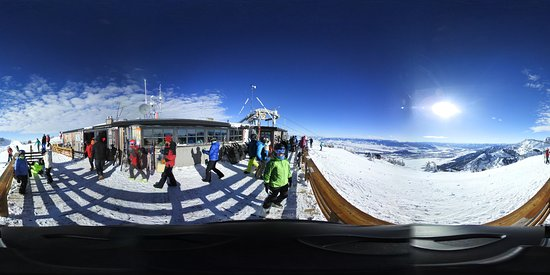 Teton Village, WY: 360 photo from the top of Corbit's Cabin.