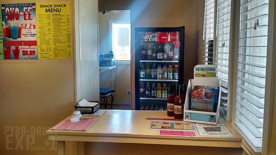 Alpine, TX: Inside - here's the counter where you order from
