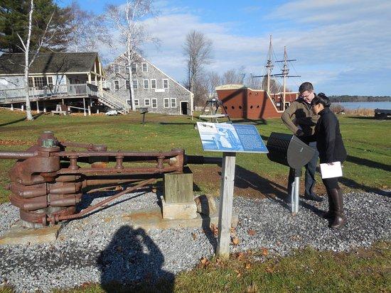 Bath, ME: Outdoor displays at Maine Maritime Musuem