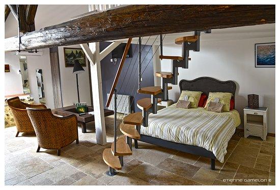Montagnac, France: chambre Pézénas, salle d'eau, toilettes séparés, terrasse, bureau, climatisation...