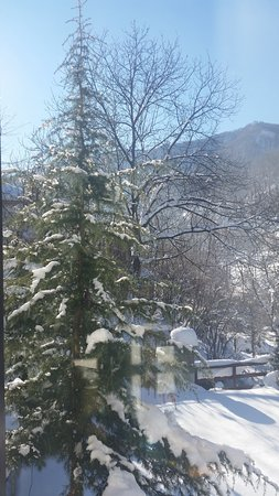 Cherni Vit, Bulgaria: the snow view from inside the house