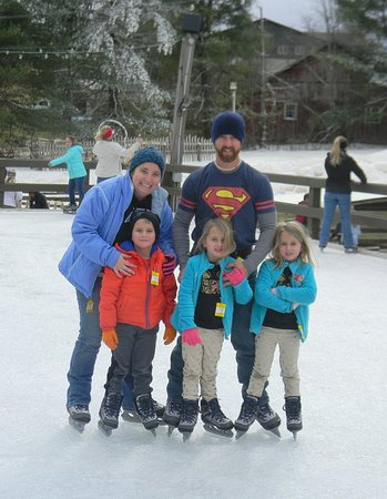 This is my nephewm his wife and their triplets at Scaly Mountain