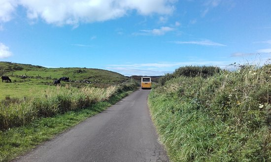 Rathlin Island, UK: Tiny bus (prefer walking!)