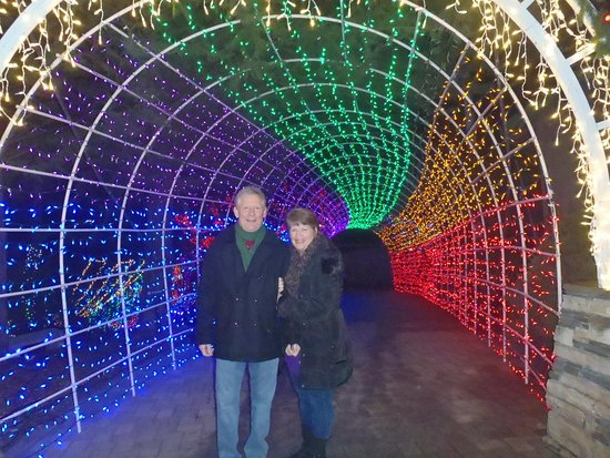 Cambria Pines Lodge Restaurant The Tunnel Of Lights Was Really Amazing