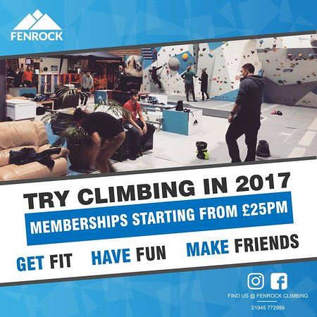Outwell, UK: With memberships starting at just £25 per month climbing at is a great new way to get this year!