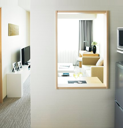 Fraser Residence Nankai Osaka: One Bedroom Apartment Living Area