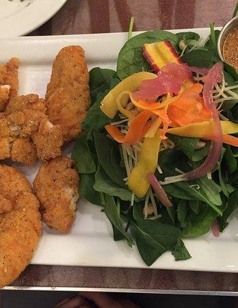 Vernal, UT: Kids Menu (Chicken Strip with salad)
