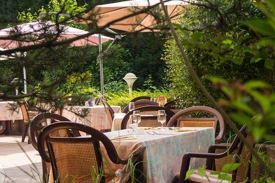 Seltz, Francia: La terrasse au calme à l'arriéré de l'Etablissement