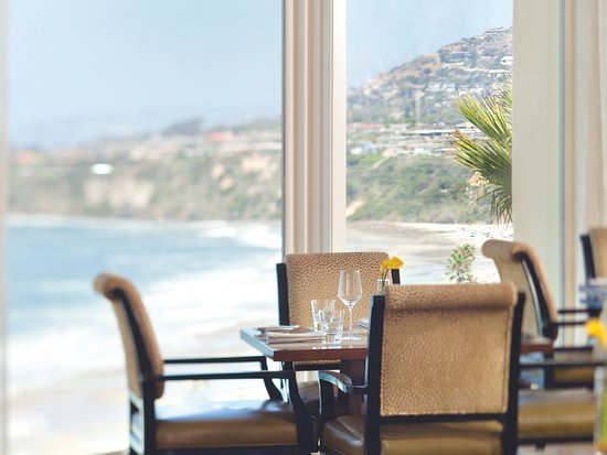 At the restaurant, Raya, in the Ritz-Carlton, Laguna Niguel in Dana Point.