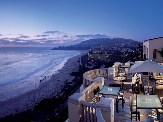Sunset transforms to twilight at The Ritz-Carlton, Laguna Niguel in Dana Point.
