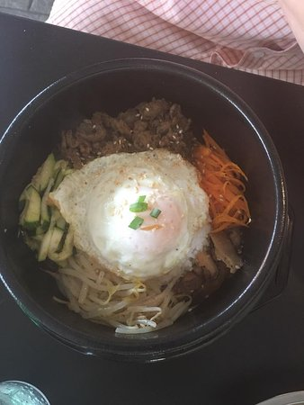 Norwich, CT: Beef Bibimap w/egg in a Clay Pot
