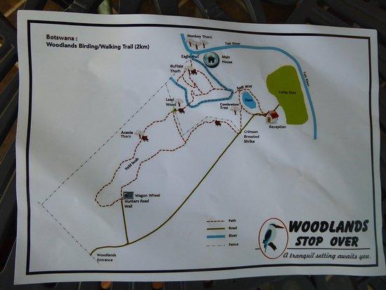 Francistown, Botsuana: piantina per la interessante passeggiata
