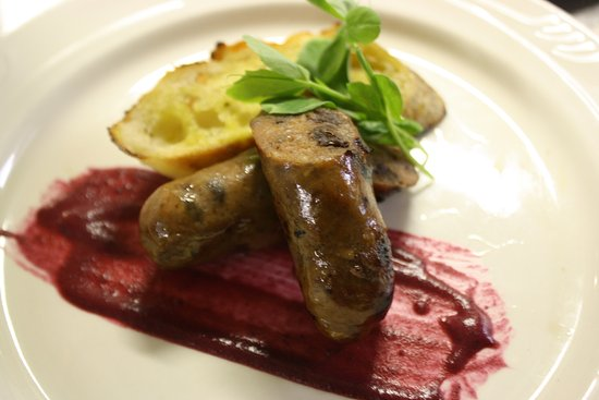 Sebasco Estates, ME: Venison sausage with blueberry compote